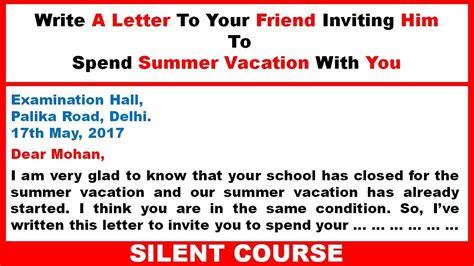 Write A Letter Inviting Your English Pen Friend Incredulouslystared Ga